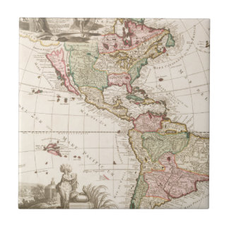 Maps of North and South America (1680-1742) Tile