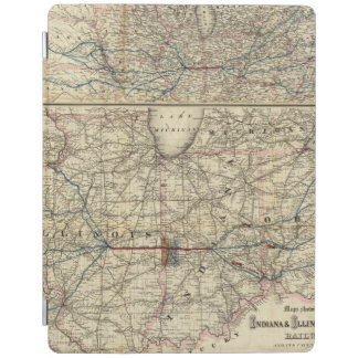 Maps showing the Indiana iPad Cover