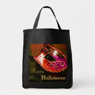 Maquerade Mask Orange Halloween Treat Tote Bag