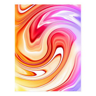 Marble Color Waves Postcard