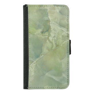 Marble Moss Green Neutral Slate Stone Samsung Galaxy S5 Wallet Case