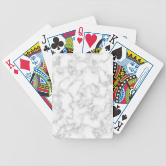 Marble Pattern Gray White Marbled Stone Background Bicycle Playing Cards
