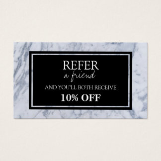 Marble Pattern Referral Card