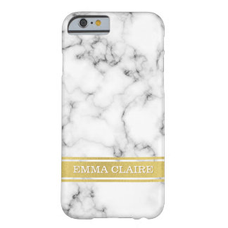 Marble Pattern with Gold Name Plate Barely There iPhone 6 Case