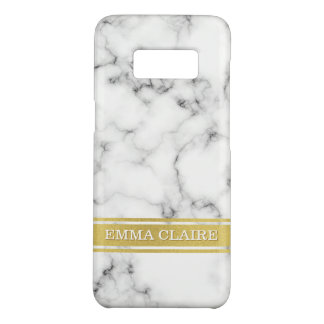 Marble Pattern with Gold Name Plate Case-Mate Samsung Galaxy S8 Case