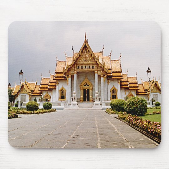 Marble Temple of Gold over Khmer Lion Mousepad