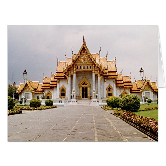 Marble Temple of Gold w/ Buddha Quote Card