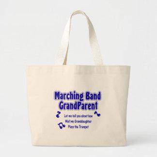 Marching Band Grandparent/ Trumpet Jumbo Tote Bag
