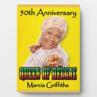 Marcia Griffiths the Reggae Queen-50th Anniversary Plaque