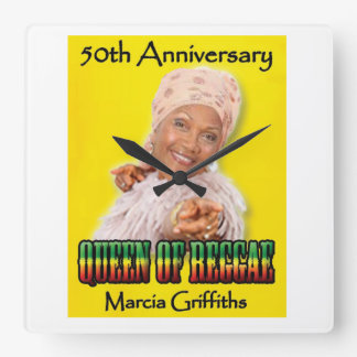 Marcia Griffiths the Reggae Queen-50th Anniversary Square Wall Clock