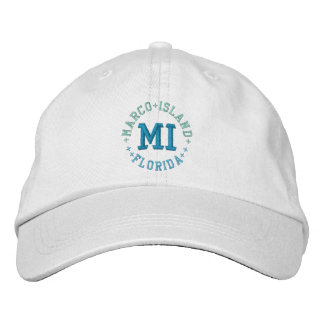 MARCO ISLAND cap Embroidered Baseball Caps