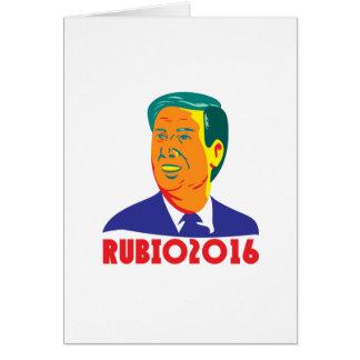 Marco Rubio President 2016 Republican Retro Card
