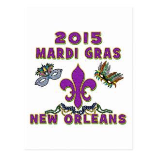 Mardi Gras 2015 New Orleans Postcard