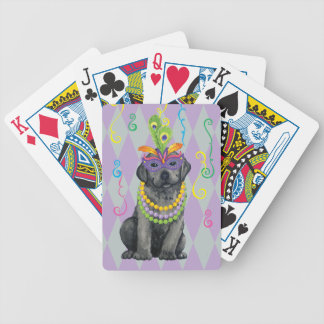 Mardi Gras Black Lab Bicycle Playing Cards