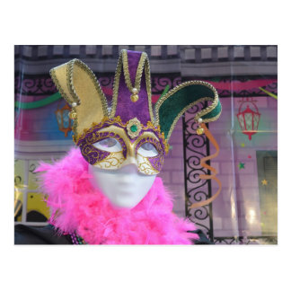 Mardi Gras Carnival Mask Postcard