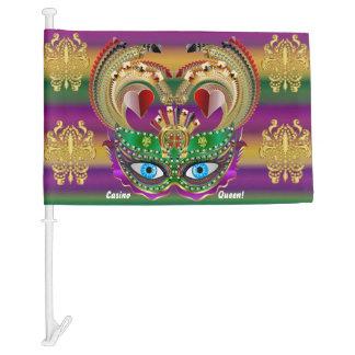 Mardi Gras Casino Queen 1 Read Description Below Car Flag