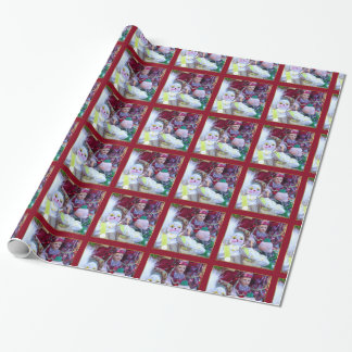 Mardi Gras clown  dolls  wrapping paper