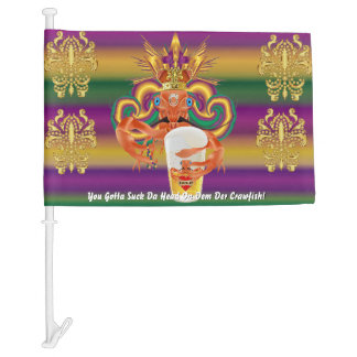 Mardi Gras Craw Fish 1 HOT Read Description Below Car Flag