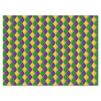 Mardi Gras Diamonds Harlequin Print Pattern Tissue Paper