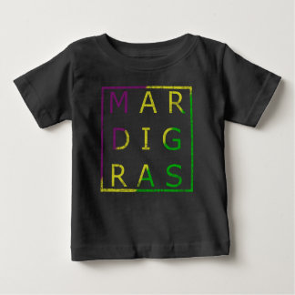 Mardi Gras Distressed Tri Colored Kids Tee