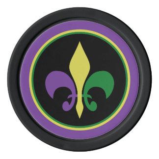 Mardi Gras ~ Fleur De Lis Poker Chips