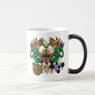Mardi Gras Football Dragon King view notes Please Coffee Mug