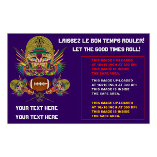 Mardi Gras Football think it's to early view notes Poster
