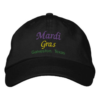 Mardi Gras Galveston Texas Baseball Cap