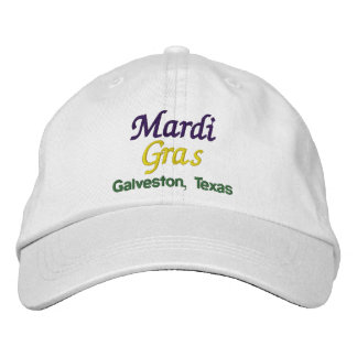 Mardi Gras Galveston Texas Embroidered Baseball Cap