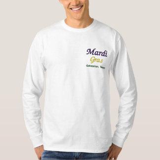 Mardi Gras Galveston Texas Embroidered Long Sleeve T-Shirt
