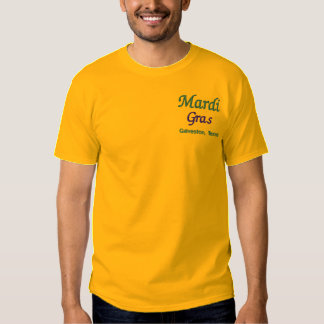 Mardi Gras Galveston Texas Embroidered T-Shirt