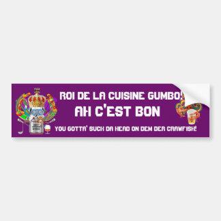 Mardi Gras Gumbo King View Hints please Bumper Stickers