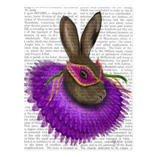 Mardi Gras Hare 2 Postcard