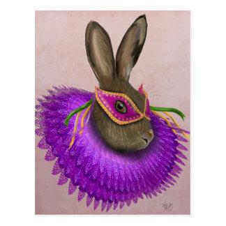 Mardi Gras Hare 4 Postcard