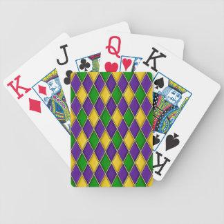 Mardi Gras Harlequin Diamond Pattern Bicycle Playing Cards