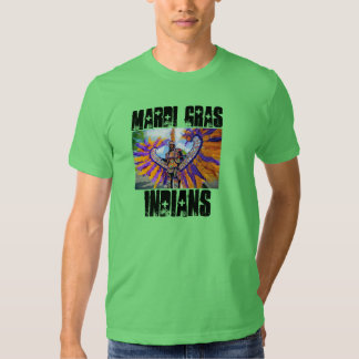 mardi gras indians tee shirts