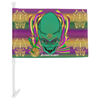 Mardi Gras Je viens en  HOT Read Description Below Car Flag