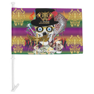 Mardi Gras Judge 3 HOT Read my Description Below Car Flag