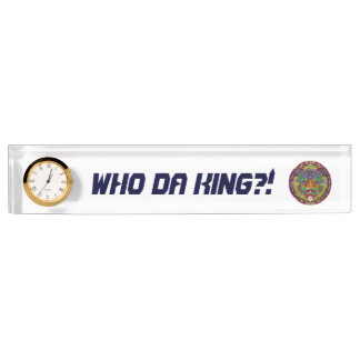 Mardi Gras King 1 Name Plate