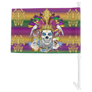 Mardi Gras King of Time HOT Read Description Below Car Flag