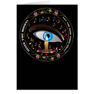 Mardi Gras Mask-Seize the night Card
