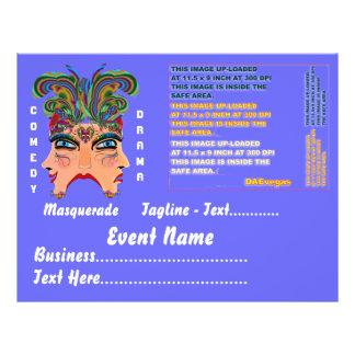 Mardi Gras Masquerade Comedy Drama View Hints Plse Flyer