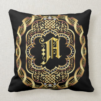 Mardi Gras Monogram A IMPORTANT Read About Design Cushion