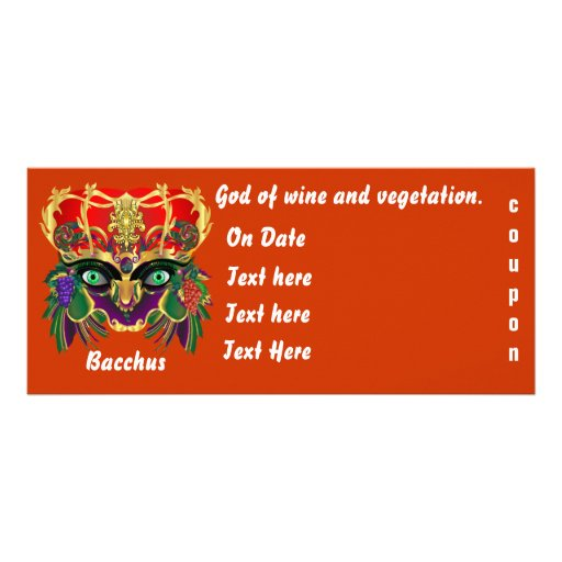 Mardi Gras Mythology Bacchus View Hints Please Full Color Rack Card