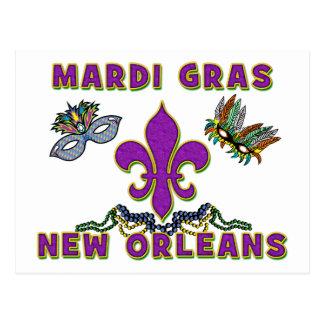 Mardi Gras New Orleans Postcard