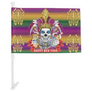Mardi Gras New Year HOT Read my Description Below Car Flag