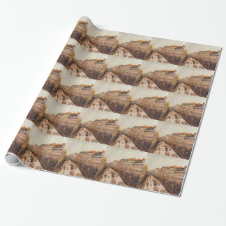 Mardi Gras on the Boulevards by Camille Pissarro Wrapping Paper