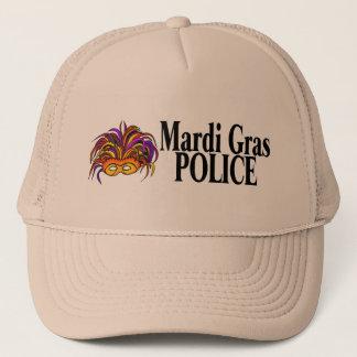 Mardi Gras Police Mask Trucker Hat