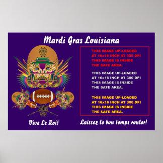 Mardi Gras Poster 60 x 40 Customize View Notes