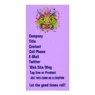 Mardi Gras Queen Style 3 View Notes Plse Customized Photo Card